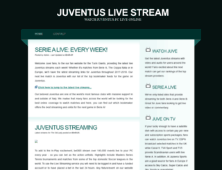 juventus-stream.net screenshot