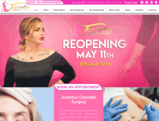 juventuscosmetic.com screenshot