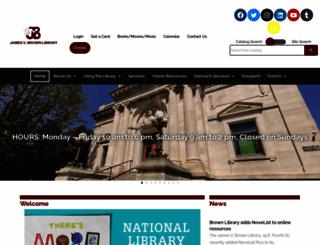 jvbrown.edu screenshot