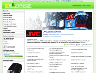 jvc-americas-corp.allitwares.com screenshot