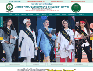 jvwomensuniv.in screenshot