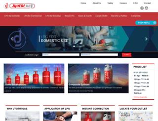 jyothigas.com screenshot