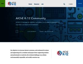 k-12.aiche.org screenshot