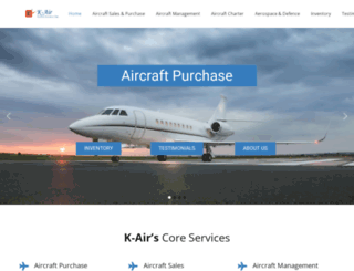 k-aircharters.com screenshot