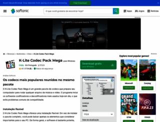 k-lite-mega-codec-pack.softonic.com.br screenshot