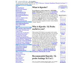 k-probe.com screenshot