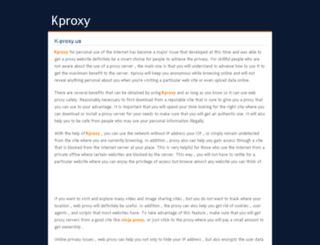 k-proxy.us screenshot