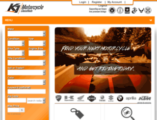 k1motorcycleclassifieds.com screenshot