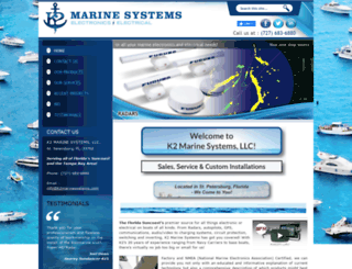 k2marinesystems.com screenshot