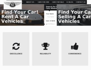 k2prestigecarhire.com screenshot