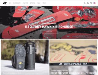 k2snowboard.com screenshot
