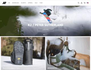 k2snowboards.com screenshot