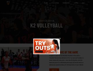 k2volleyball.com screenshot
