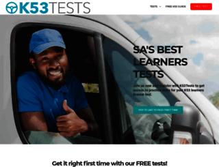 k53tests.co.za screenshot