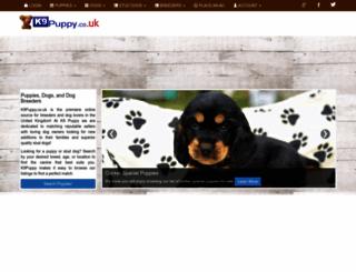 k9puppy.co.uk screenshot
