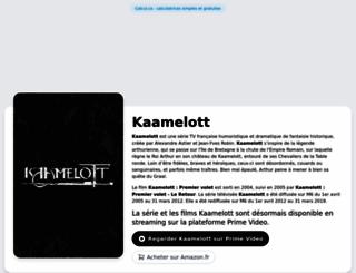 kaamelott.co screenshot