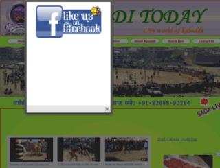 kabadditoday.com screenshot
