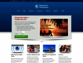 kabalarians.com screenshot