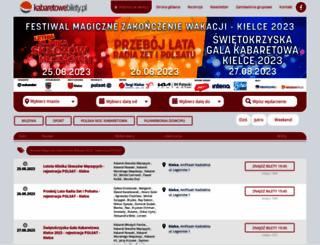 kabaretowebilety.pl screenshot