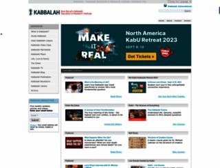 kabbalah.info screenshot
