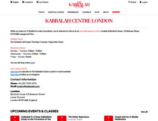kabbalahcentre.co.uk screenshot