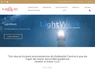kabbalahcentre.com.br screenshot