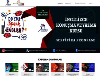 kabusem.karabuk.edu.tr screenshot
