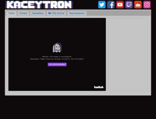 kaceytron.tv screenshot