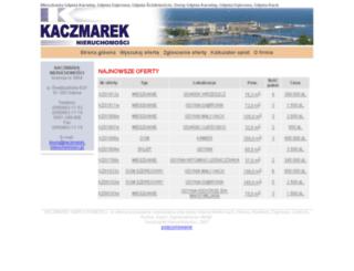 kaczmarek.nieruchomosci.pl screenshot