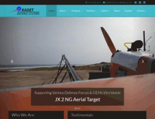 kadet-uav.com screenshot