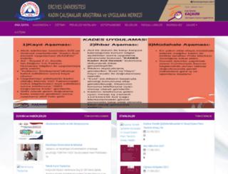 kadincalismalari.erciyes.edu.tr screenshot