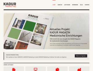 kadur-werbung.de screenshot