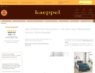 kaeppel-bettwaesche-shop.de screenshot