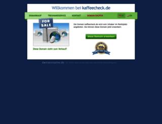 kaffeecheck.de screenshot