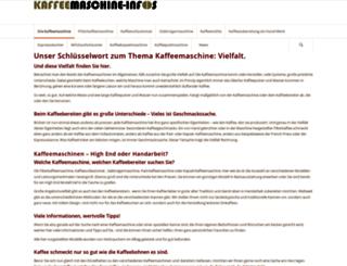 kaffeemaschine-infos.de screenshot