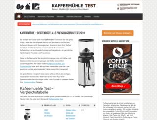 kaffeemuehle-test.de screenshot