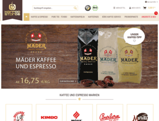 kaffeestore24.de screenshot