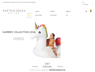 kaftansalesonline.com.au screenshot