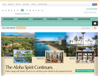 kahalatravel.com screenshot