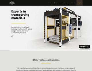 kahl.com.ar screenshot
