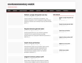 kahramanmarashaber.gen.tr screenshot