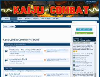 kaijucombat.com screenshot