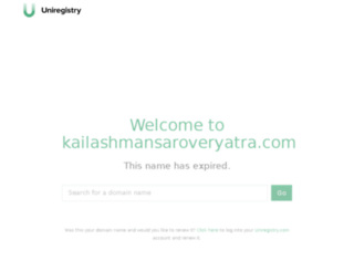 kailashmansaroveryatra.com screenshot