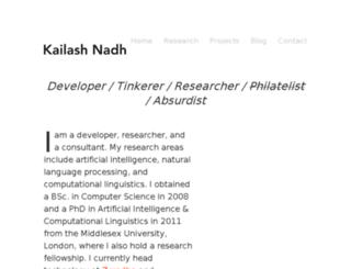 kailashnadh.name screenshot