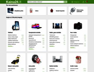 kaina24.lt screenshot