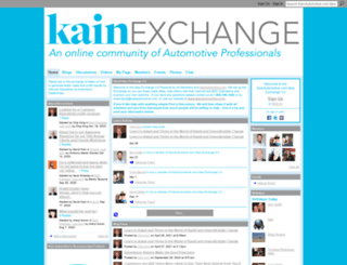 kainautomotiveideaexchange.ning.com screenshot