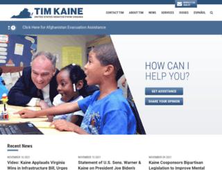 kaine.senate.gov screenshot