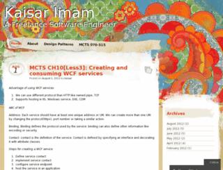 kaisar.wordpress.com screenshot