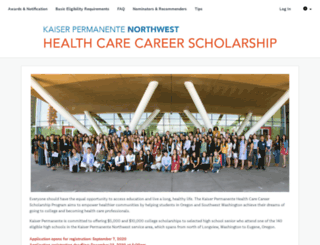 kaiser-scholarship.fluidreview.com screenshot