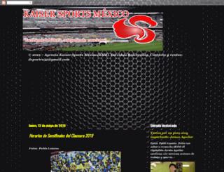 kaiser-sports.blogspot.mx screenshot